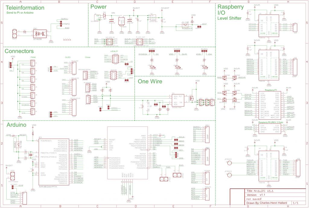 ArduiPi V1.1 Schematic