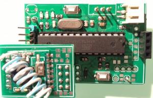 RFM12B breakout board on ArduiNode