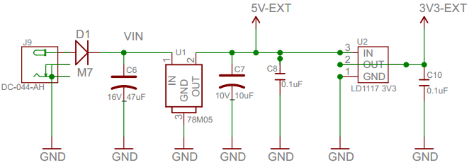 ArduiPi Power Schematic