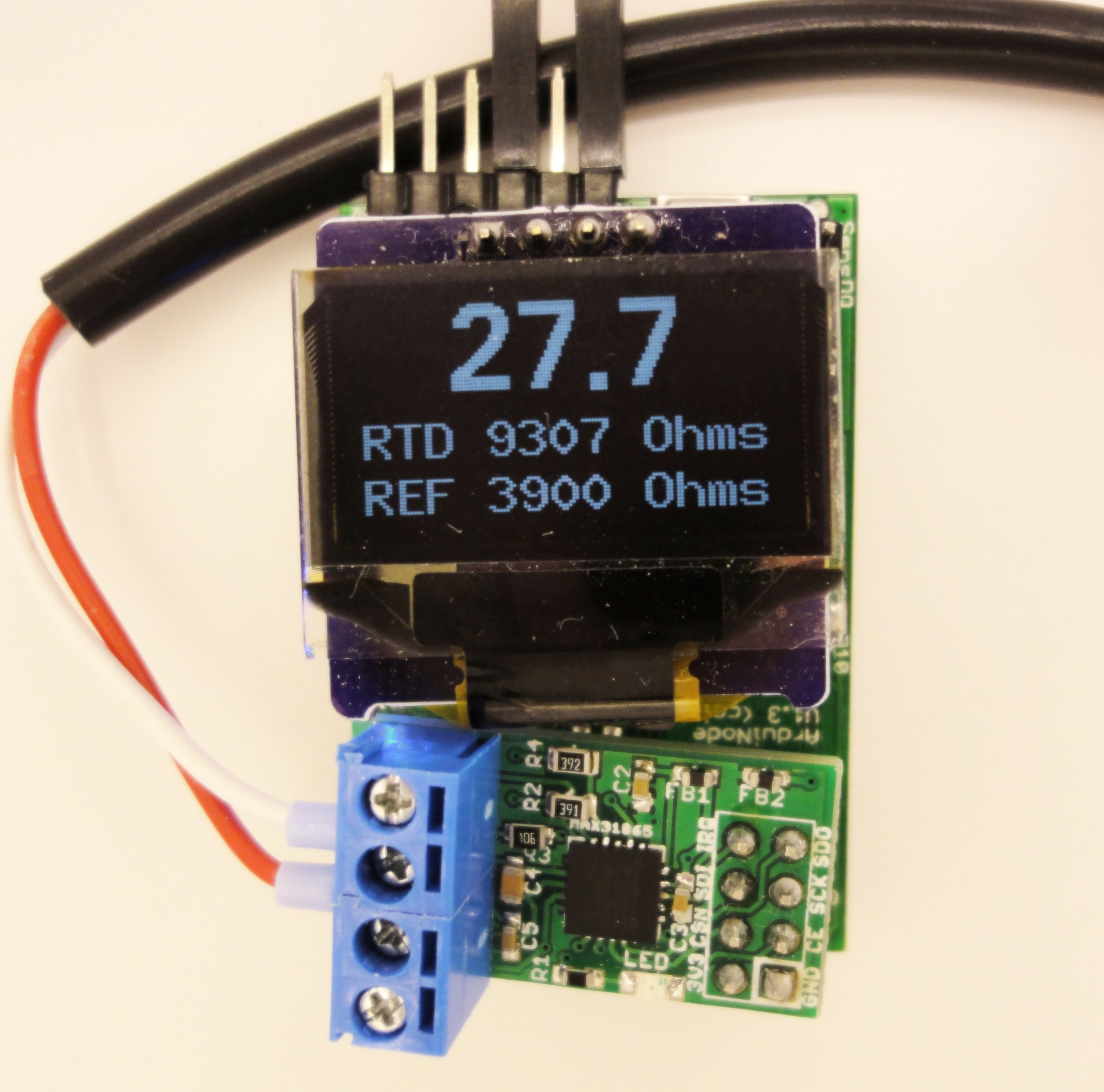 Pt100 And Pt1000 Breakout Board With Max31865 Charless Blog Raspberry Pi Serial Circuit Diagram Click For A Oled Working