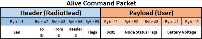 RF Alive payload sample