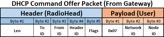 RF DHCP Offer payload sample