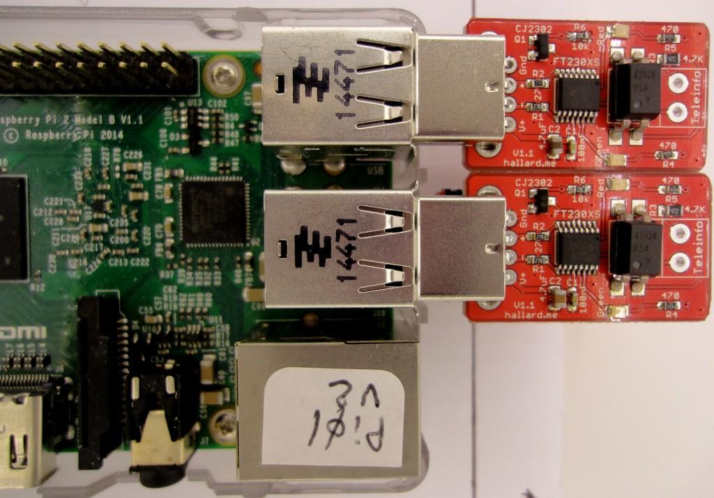 2 µTeleinfo on Raspberry PI