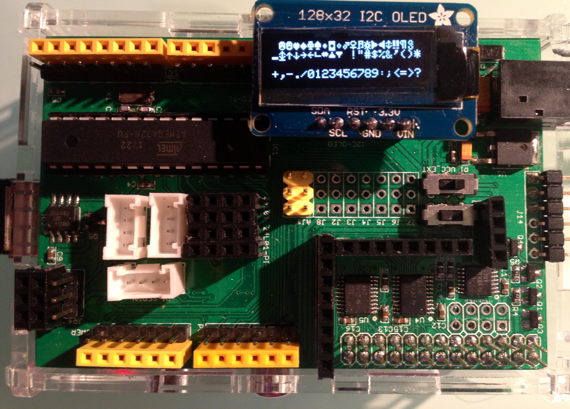 Adafruit Ssd1306 Oled Display Driver For Raspberry Pi Charless Blog Wiringpi Orange I2c On Arduipi