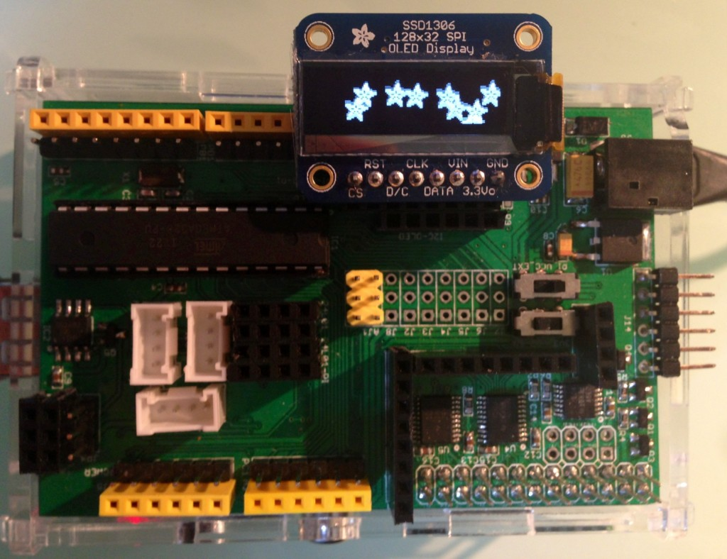 Adafruit SPI SSD1306 on ArduiPi