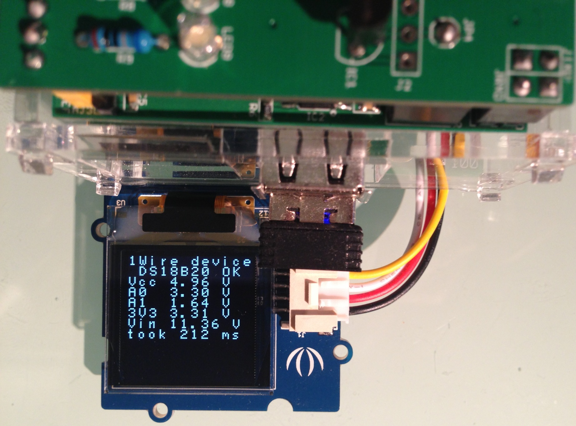 Adafruit Ssd1306 Oled Display Driver For Raspberry Pi Charless Blog Spi Using Wiringpi Arduipi Test Board With Grove