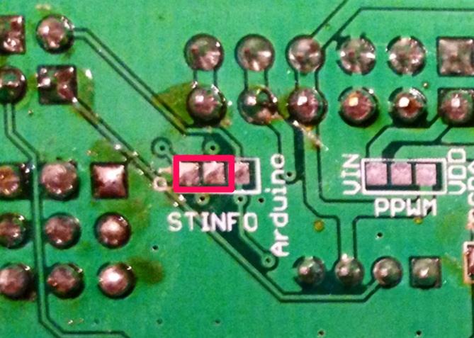 Solder PAD pour la téléinfo sur le Raspberry Pi