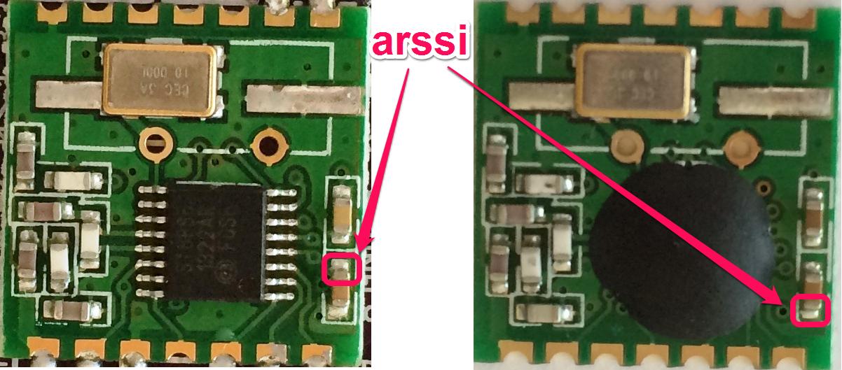 RFM12B arssi signal location