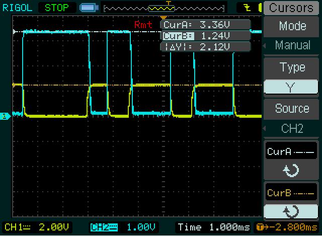 SFH620 R1=4K7 R2=1K + Transistor
