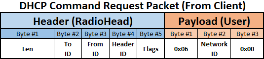 RF DHCP request payload sample