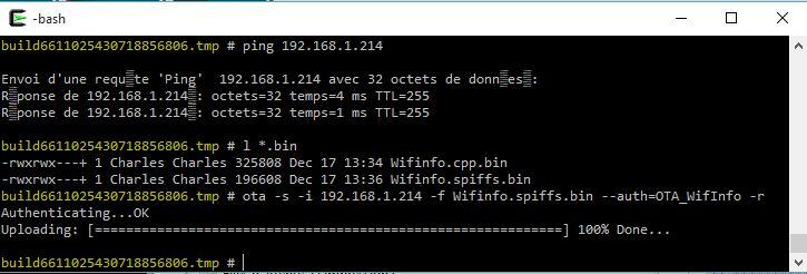 ESP8266 OTA SPIFFS command line